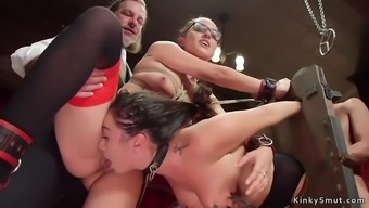 Hot sluts pussy and ass banged in orgy