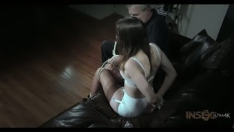 Tied up bitch Sierra Cirque gets spanked and punished in the dark room