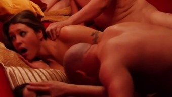 Beautiful couple joins other swingers