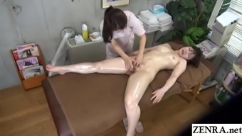 JAV lesbian massage clinic vaginal stimulation Subtitles