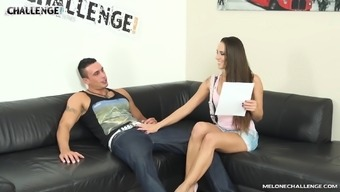 Hardcore blowjob and doggy style fuck with MILF babe Mea Melone