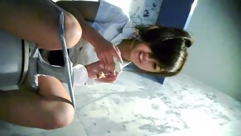 Hidden cam college girl STK
