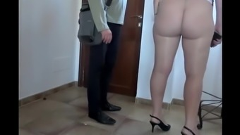 Pantyhose flashing big ass bitch
