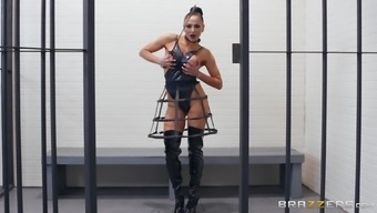 Perfect slut Audrey Bitoni obeys every sexy command and swallows cum
