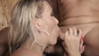 HITZEFREI German blonde Julia Pink fucked in the sauna