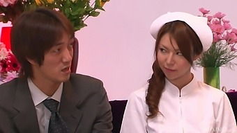 Kinky Japanese game show with pussy pleasuring by random guys
