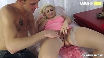 AMATEUR EURO - BBW Lady Takes Huge Cock From Young Passionate Guy
