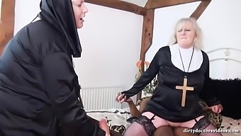 Naughty nuns are about to have a real black experience, until everyone gets completely satisfied