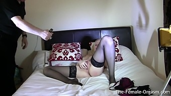 Behind The Scenes View Of Young British MILF Masturbating To Orgasm