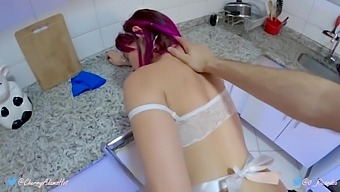 I Fucked the Tight Pussy and Asshole of my Maid with no Condom, and she Asked me to Cum Inside! ANAL