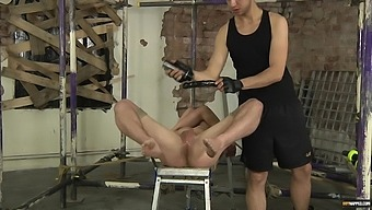 Hardcore ass pounding between a male slave and a gay dude