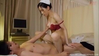 Sexy Asian nurse drops her uniform to be fucked on the hospital bed
