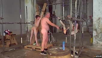 Video of dirty dudes fucking butts of two tied up gay dudes