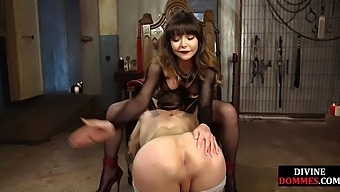 The busty dominatrix dominates with pussy and pegging