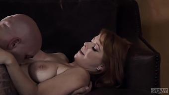 Alpha Male Derrick Pierce bangs ginger babe in sexy lingerie Penny Pax
