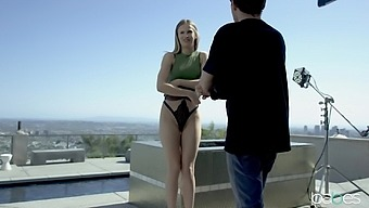 Naughty babe Jillian Janson gets fucked by the window and loves it