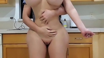 Kitchen fun with big ass wife