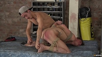 Male slave gets tied up and enjoys getting fucked in the ass