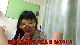 Korean girl with a mask
