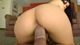 Cute chick Roxy DeVille moans during pussy and ass dicking
