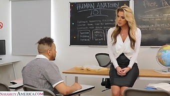 Big tits blondie Kayla Paige enjoys getting fucked by a black dude