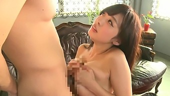 Natural boobs Asian chick Fujii Arisa gets fucked in missionary