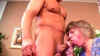 German Mature Couple Fuck in front of Maid and Join 3Some