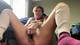 Mom 48 and playing with my gaping pussy
