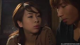 Foxy Japanese chick Karen Ichinose gets fucked on the bed