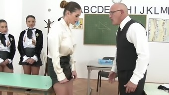clothed babes among the college cathy rapture, aida charming, aysha rouge