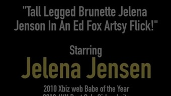Deep Legged Blonde Jelena Jenson With in Impotence problems Coyote Artsy Brush!