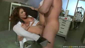love-making starved nurse roberta gemma gets her backed opening pounded by the meaty manhood