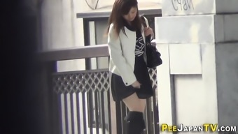 Japanese young adults peeing