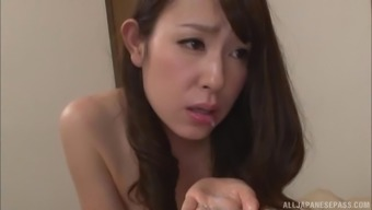 Imai Mayumi hooked by her co-worker to produce a sex appointment