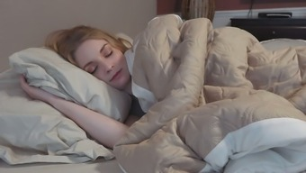 My but still sleepy but attractive pale GF postures toward the sleep once i aftermath her out