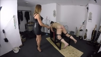 Mistress Against Pounding Her machine