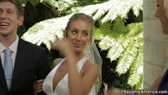 Nicole Aniston hack on top of her fiance with the wedding