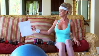 Sporty brown mom Brandi Love delivers and gets popped every which generally way