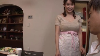 Big tits Japanese people housewife gives an sensual titjob and blowjob