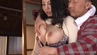 Dirty old man just wishes to suck this big tits MILFs pussy