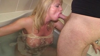 Blond interracial penis craving MILF
