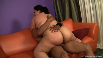 He spanks his Big beautiful woman girlfriend's great ass in that case fucks her