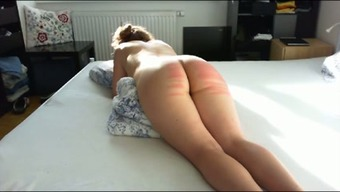 Twisted submissive great bottomed companion of my companion got her bum spanked