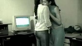Cute Lesbian Indian Youngsters Terrified of Getting Snagged