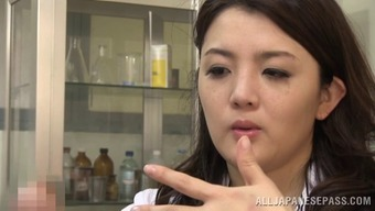 Touching Japanese medical professional rapidly falls in love with the erected dick