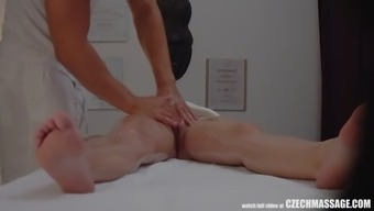 busty nasty person seduced her masseur to effectively complicated sexual intercourse