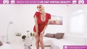 VR PORN-Busty Aletta Coastline Get Cracked And Titty Fuck Along with a