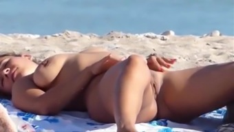 Lovely black bare on any nudist beach