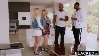 BLACKED A couple of Plus sized Community college Pupils Want BBC