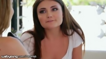 WebYoung Young adult Gorgeous Adria Rae Wedged Kimmy Massaging one(1) Out